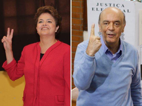 Dilma e Serra nas eleições