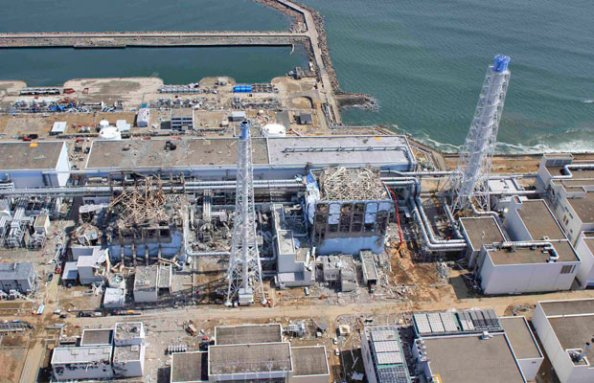 Visão aérea do Complexo Nuclear de Fukushima