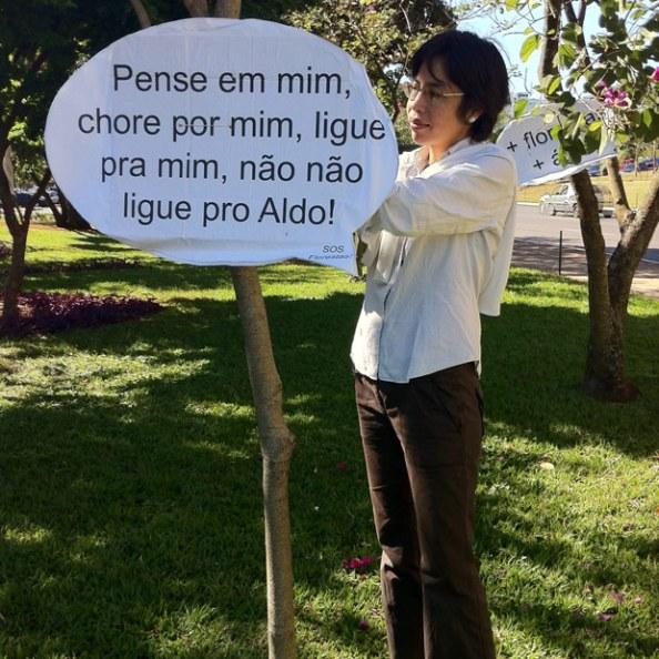 Novo Código Florestal, causa manifestos contra o deputado Aldo Rebelo